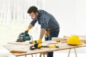 Håndværker på arbejde